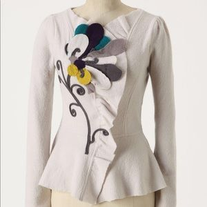 Appliqué Cardigan, Sleeping on Snow/Anthropologie
